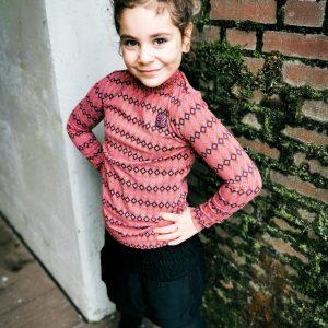 Quapi Meisjes shirt - Dilan - Retro Magenta