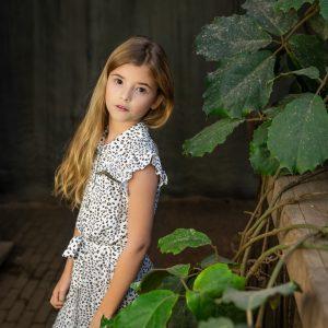 Vinrose Meisjes jurk - Beige