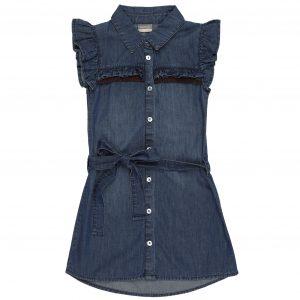Vinrose Meisjes jurk - Spijker blauw
