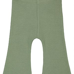 HEMA Baby Legging Rib Flared Groen (groen)