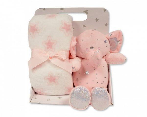 Snuggle Baby babydeken met knuffelolifant sterren 23 cm