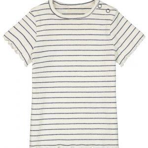 HEMA Baby T-shirt Rib Gebroken Wit (gebroken wit)