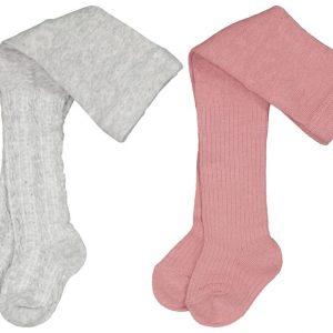 HEMA Baby Maillots Rib - 2 Paar Roze (roze)